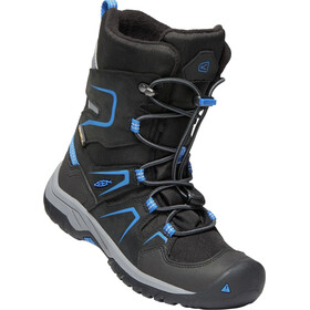 Keen Junior Levo WP Winter Shoes black/baleine blue